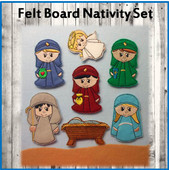 In The Hoop Felt Nativity Board Embroidery Machine Design Set