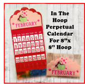 "In The Hoop Perpetual Calendar Embroidery Machine Design Set for 8""x8"" Hoop"