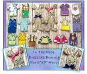 In The Hoop Dress Up Bunny Embroidery Machine Design Set