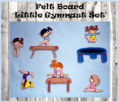 In The Hoop Felt Board Little Gymnasts Embroidery Machine Design Set