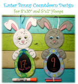In The Hoop Bunny Easter Countdown Embroidery Machine Design