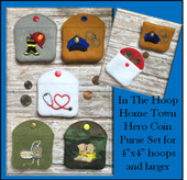 In The Hoop Home Town Hero Coin Purse Embroidery Machine Design Set