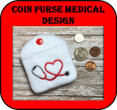 In The Hoop Medical Coin Purse Embroidery Machine Design