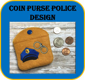 In The Hoop Police Coin Purse Embroidery Machine Design