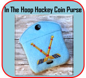 In The Hoop Hockey Coin Purse Embroidery Machine Design