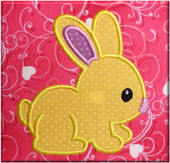 Bunny Applique Embroidery Machine Design