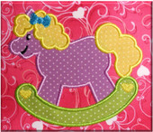 Rocking Horse Applique Embroidery Machine Design