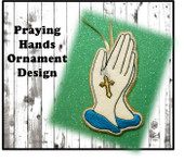In The Hoop Praying Hands Ornament Embroidery Machine Design