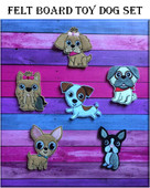 In The Hoop Felt Board Toy Dog Embroidery Machine Design Set