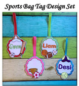 In The Hoop Scalloped Sports Bag Tag Design Set