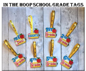 In The hoop School Grade Tags Embroidery Machine Design Set