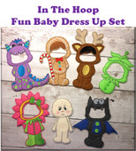 "In The Hoop Baby Dress Up Embroidery Machine Design Set for 5""x7"" Hoop"