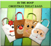 In The Hoop Christmas Treat Bags 2015 Embroidery Machine Design Set