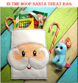 In The Hoop Santa Treat Bag Embroidery Machine Design