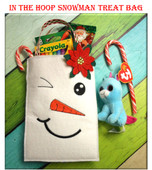 In The Hoop Snowman Treat Bag Embroidery Machine Design