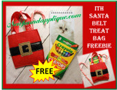 In The Hoop Santa Belt Treat Bag Embroidery Machine Design