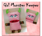 In The Hoop Monster Keeper Girl Stuffed Toy Embroidery Machine Design