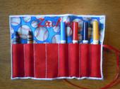Square crayon roll
