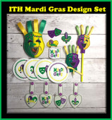 In The Hoop Mardi Gras Party Favours Embroidery Machine Design Set