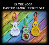 In The Hoop Easter Candy Pocket Embroidery Machine Design Set