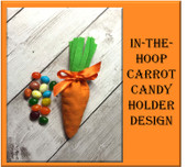 In the Hoop Carrot Candy Holder Embroidery Machine Design