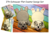 In The Hoop Flat Coaster Schnauzer Dog Embroidery Machine Design Set