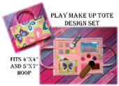 In the hoop Play Make Up Tote Embroidery Machine Design set