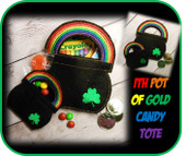 In The Hoop Pot Of Gold Candy Tote Embroidery Machine Design