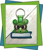 InThe Hoop Caterpillar Snap Key Fob Embroidery Machine Design