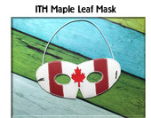 In The Hoop Maple Leaf Mask Embroidery Machine Design