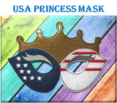 In the Hoop USA Princes Mask Childs Embroidery Machine Design