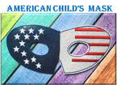 In The Hoop American Childs Mask Embroidery Machine Design