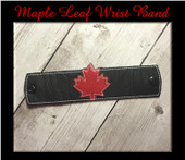 IN The Hoop Maple Leaf Kids Wrist Band Embroidery Machine Design