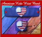 In The Hoop Childs American Wrist Band Embroidery Machine Design