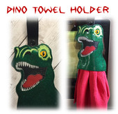 In the Hoop Dino Towel Holder Embroidery Machine Design