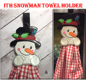In The Hoop Snowman Towel Holder Embroidery Machine Design