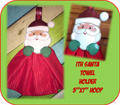 In The Hoop Santa Towel Holder Embroidery Machine Dessign