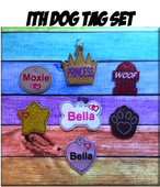 In The Hoop Dog Tag Embroidery Machine Design Set