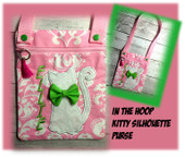 InThe Hoop Kitty Silhouette Purse Embroidery Machine Design
