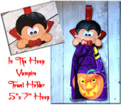 In The Hoop Vampire Towel Holder Embroidery Machine Design