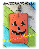 In The Hoop Pumpkin Phone Ipod Case Embroidery Machine
