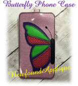 In The Hoop Butterfly Phone/Ipod Case Embroidery Machine Design