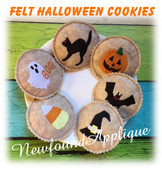 In The Hoop Felt Halloween Play Cookie Embroidery Machine Design Set