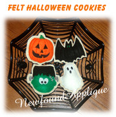 In the Hoop Halloween Sugar Cookie Felt Play Food Embroidery Machine Design