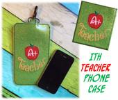 In The Hoop Teacher Apple Phone Case/Ipod Embroidery Machine Design