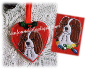 In the hoop King Charles Heart Ornament And Embroidery Machine Design for 4x4 Hoop