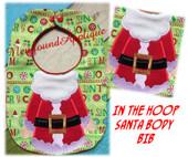 In the Hoop Santa Body Baby Bib Embroidery Machine Design