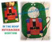 In The Hoop Nutcracker Bib Embroidery Machine Design
