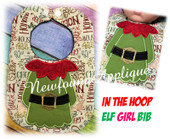 In the Hoop Elf Girl Body Bib Embroidery Machine Design