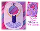 In The Hoop Ballerina Body Bib Embroidery Machine Design